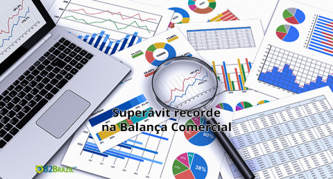 Balança comercial brasileira tem superávit recorde